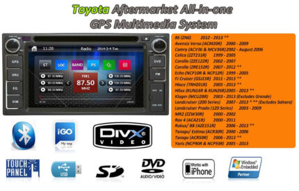 Toyota Corolla Camry Yaris Aurion Prado Hiace GPS Head Unit Blackburn Whitehorse Area Preview
