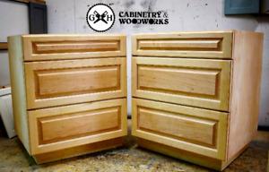 Custom kitchen cabinets, vanities, islands and doors