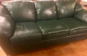 Leather Couch and Reclining Chair