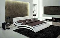 Stylish Wave Headboard Modern Platform Bed