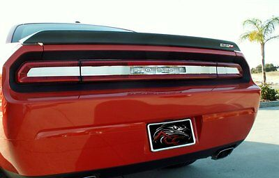 Smoked Tail Light Insert Trim Plate Polished Trim for 2008-2014 Challenger
