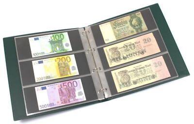 KOBRA Banknotenalbum im Großformat mit 20 dreigeteilten Blättern für 120 Banknot