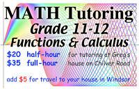 TUTOR for Grade 12 MATH: Calculus, Data Management, Functions