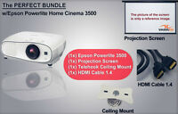 ENSEMBLE COMPLET PROJ. EPSON 3500 - SUPPORT - HDMI - TOILE 130""