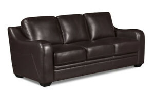 The BRICK - Benson Leather Sofa – Brown