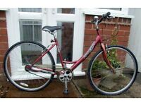 *WOMENS / LADIES RALEIGH 3 SPEED HYBRID / TOWN BIKE - JUST CLEANED & SERVICED - GOOD USED CONDITION*