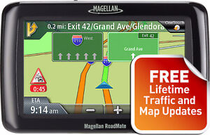 Magellan GPS with life time map updates