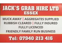 Jack's Grab Hire, Muck away, Rubble, Concrete, Rubbish cleared, 32ton Lorry and driver for hire