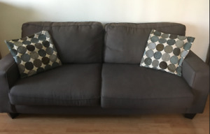 Brand New, The BRICK, Sofa – Mocha 100$ (pillows included)