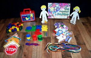 7 lot de jouets d'apprentissages