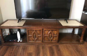 Natural wood TV stand or coffee table