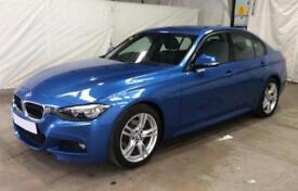 2015 BLUE BMW 320D 2.0 M SPORT DIESEL AUTO 4DR SALOON CAR FINANCE FR £62 PW