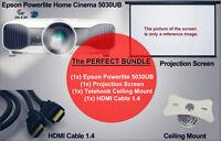 """ENSEMBLE COMPLET PROJ. EPSON 5030UB- SUPPORT - HDMI - TOILE 150"""" Longueuil / South Shore Greater Montréal Preview"""
