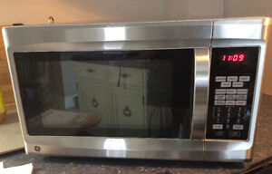 Stainless Steel GE Microwave with Convection and Grill