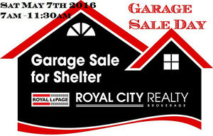 Raise the Roof! Garage Sale for Shelter