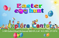 Easter Egg Hunting at Explore Center