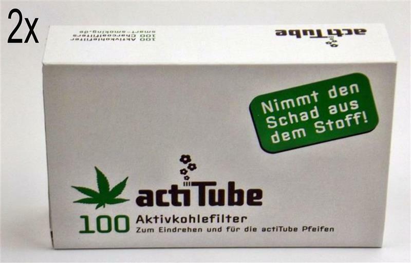 actiTube (Tune) Aktivkohle Filter 8mm 2x100 Stück