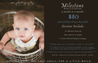 ***$80 Milestone Photo Sessions (3 months to 11 months Old)***