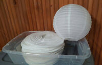 "Wedding Decoration- White 12"" Chinese Lanterns"