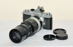 Nikormat film Camera with  200mm  f4 no- Ai vintage Lens