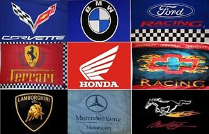 Large High Quality 3'X5' Car flags for sale
