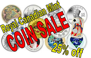 COIN SALE: Up to 35% off Royal Canadian Mint Coins