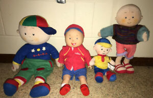 Caillou Plush Stuffed Doll Lot of 4 ~ 2 of them Talk $30 for all