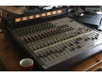 Tascam m512 vintage mixer with original patch bay and looms