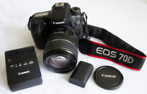 CANON EOS 70D & 17 - 85mm Lens: $ 950.00Comes with battery and