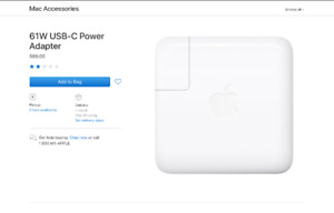 Macbook pro charger USB-C 61W