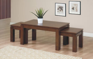 Winners Only Alexis Walnut Nesting Tables living room / salon