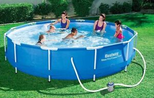 """BESTWAY STEEL PRO 12' X 30"""" FRAME ABOVE GROUND POOL  WITH FILTER PUMP Lindfield Ku-ring-gai Area Preview"""