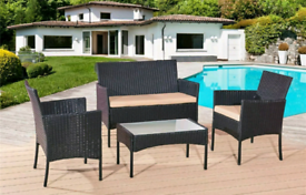 Rattan Garden Furniture 4PC same day delivery