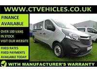 2016 16 plate Vauxhall Vivaro 1.6CDTi 2900 L2H1 Combi start/stop, EU6, 9 Seat