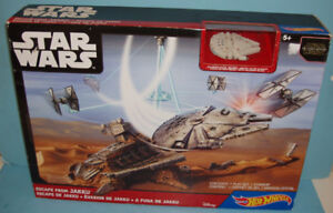 JEU PLAYSET, HOT WHEEL STAR WARS, L'ÉVASION de JAKKU