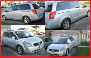 2004 NISSAN QUEST MINVAN 2 DVD 7 SEATER RED LEATHER QUICK SALE