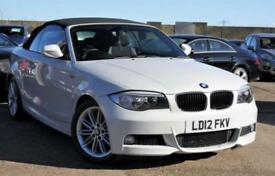 2012 BMW 1 SERIES 2.0 PETROL 118I M SPORT WHITE CONVERTIBLE FULL BMW HISTORY