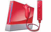 Red Wii with many, many games (SOFTMOD)