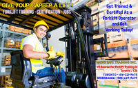 Get Your Forklift Training + Certification (Licence) + Job