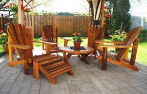Chaise Adirondack en bois de cèdre