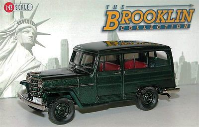 Willys-overland Wagon (Brooklin Models BRK 167 1952 Willys Overland Station Wagon 4WD green 1/43)