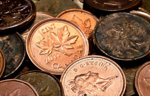Canadian Pennies - looking to purchase.