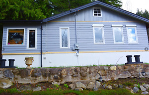 2 Acre Lakeview Shuswap Vacation Home w/Private Beach for Sale