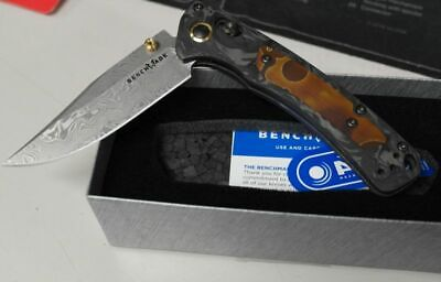 Benchmade Gold Class 15085-201 Mini Crooked River Damasteel