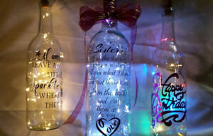Hand Crafted Special Occasion Decorative Fairy Light Cork Bottle