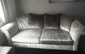 Velvet crushed sofa