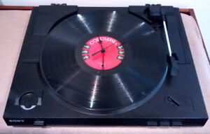 CLOCK TURNTABLE/RECORD PLAYER