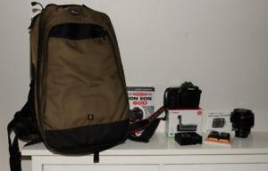 Caméra Canon 60 D + Lentille Canon 15-85mm + accessoires