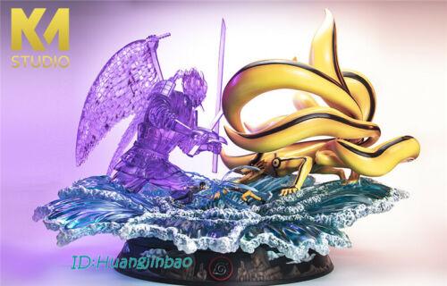 KM Studio Naruto Final Battle Uchiha Sasuke VS Uzumaki Naruto Statue Nine Tail