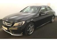 2014 BLACK MERCEDES C220 2.1 AMG LINE PREMIUM PLUS SALOON CAR FINANCE FROM 67 PW
